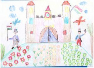 Molnár Zsanett rajza 5 éves kategóriában harmadik helyezett lett!