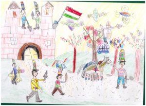 Magna Nóra Naómi rajza 7 éves kategóriában első helyezett lett!
